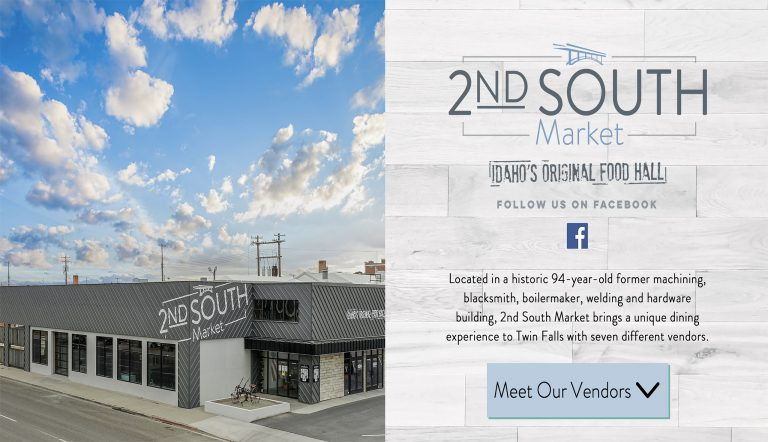 2nd South Market Website Redesign and The Yard Rendering